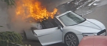 Audi R8 Spyder Burns during Wedding [Video]
