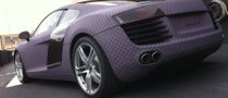 Audi R8 Turned to Purple Chess Board by Dartz
