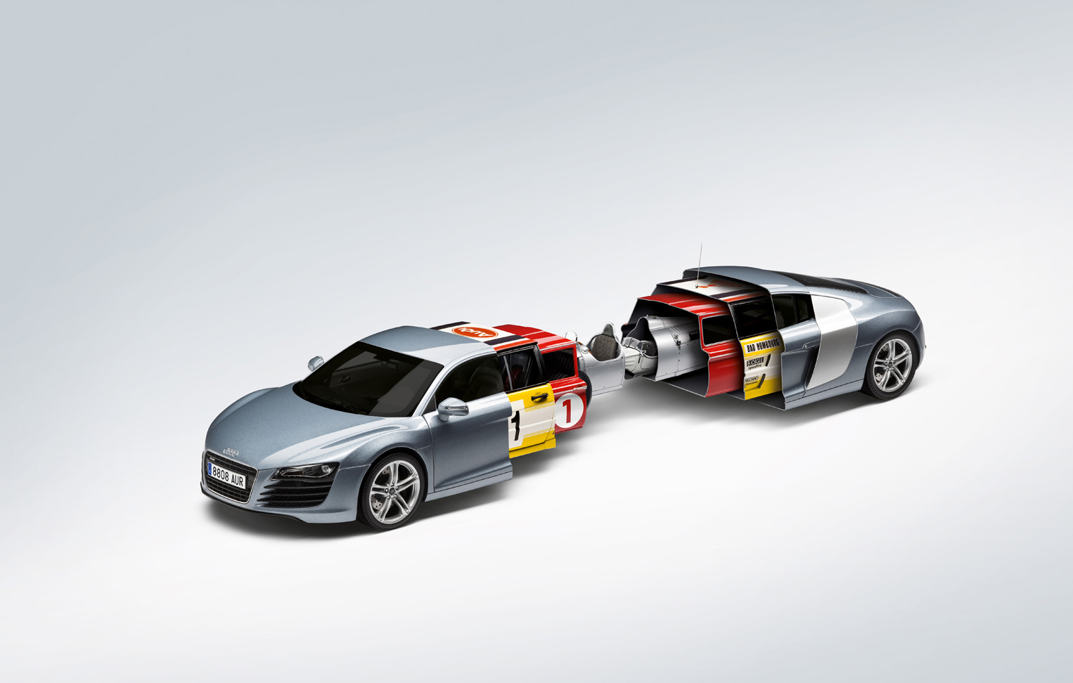 Audi R8 Turns Into Matryoshka Doll For New Print Ad