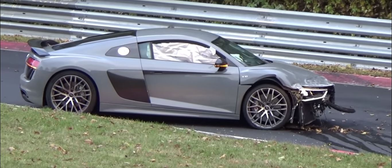 6 Photos. Audi R8 V10 Plus Nurburgring Crash ...