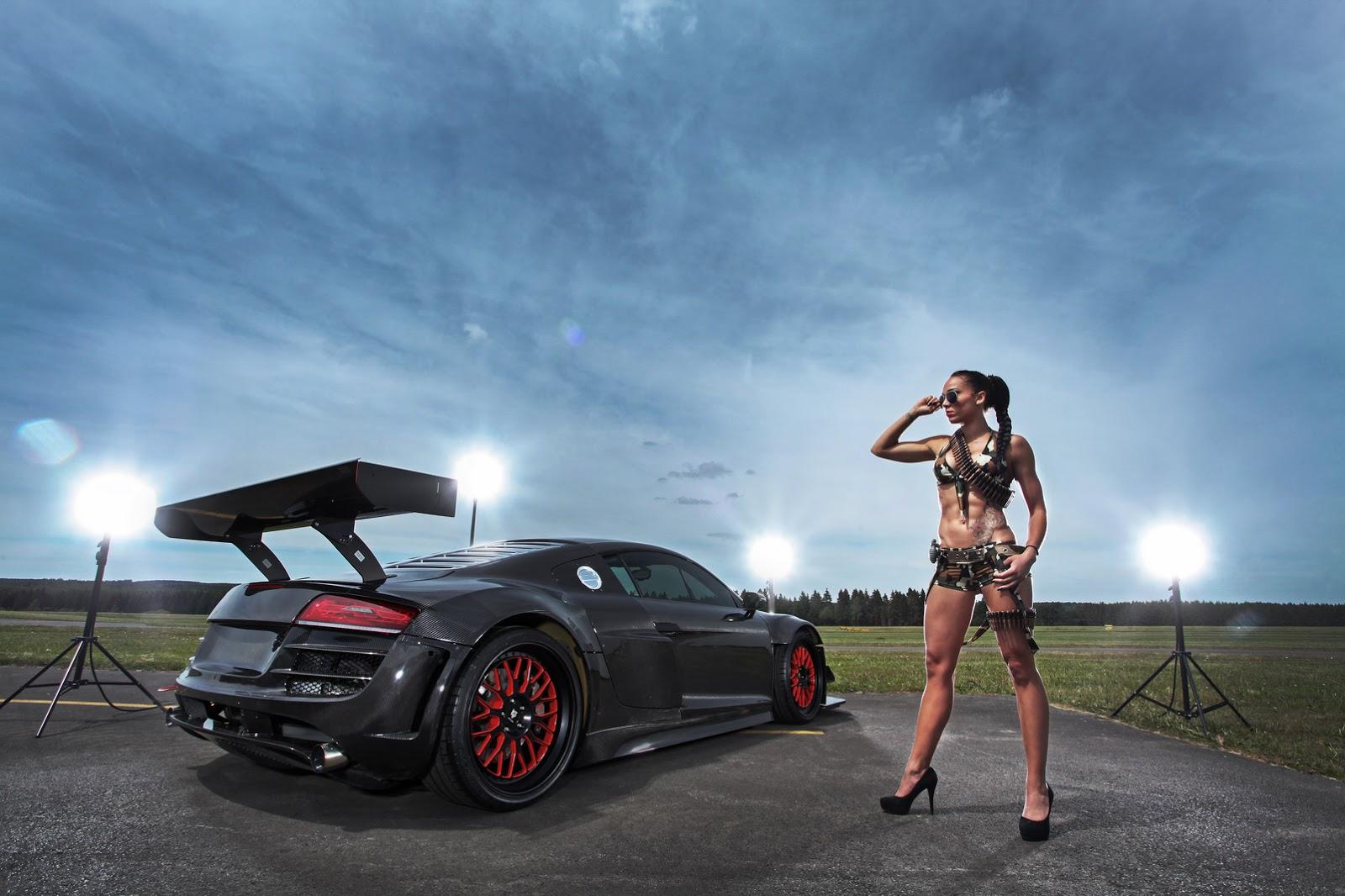 Audi R8 V10 Plus Gets A 950 Hp Makeover Complete With Carbon Fiber Body Autoevolution