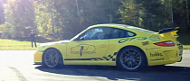 Audi R8 V10 Races Porsche 997 GT3 on Straight Pipes [Video]
