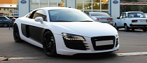 Audi R8 Vinyl Wrap - Satin White