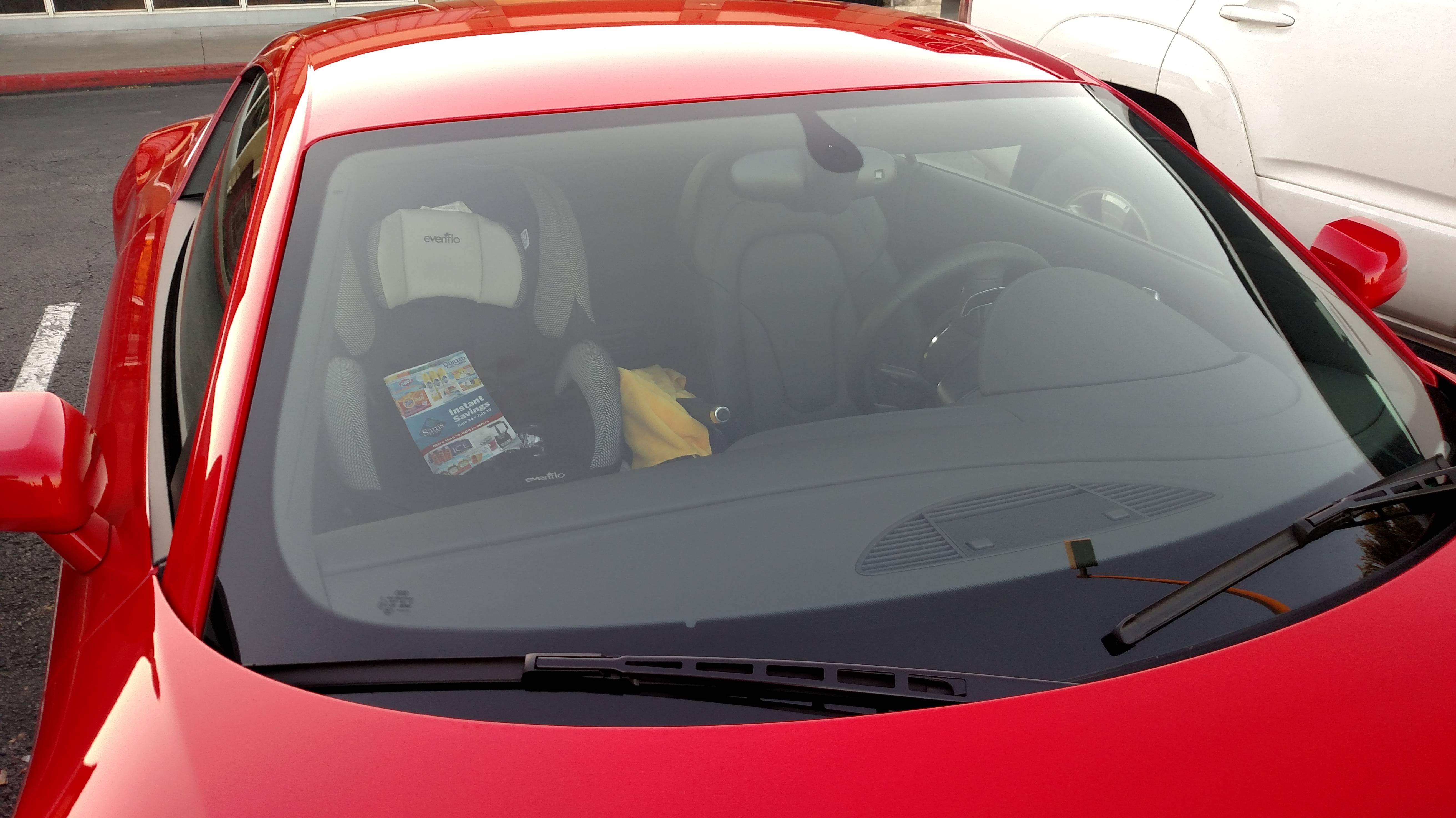 Audi R8 With Child Seat Sparks A Debate Is It Safe