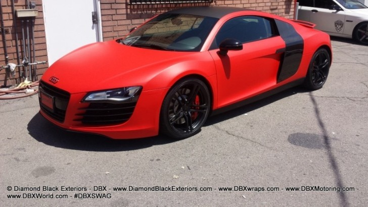 Audi R8 Wrapped in Matte Red by DBX [Photo Gallery]