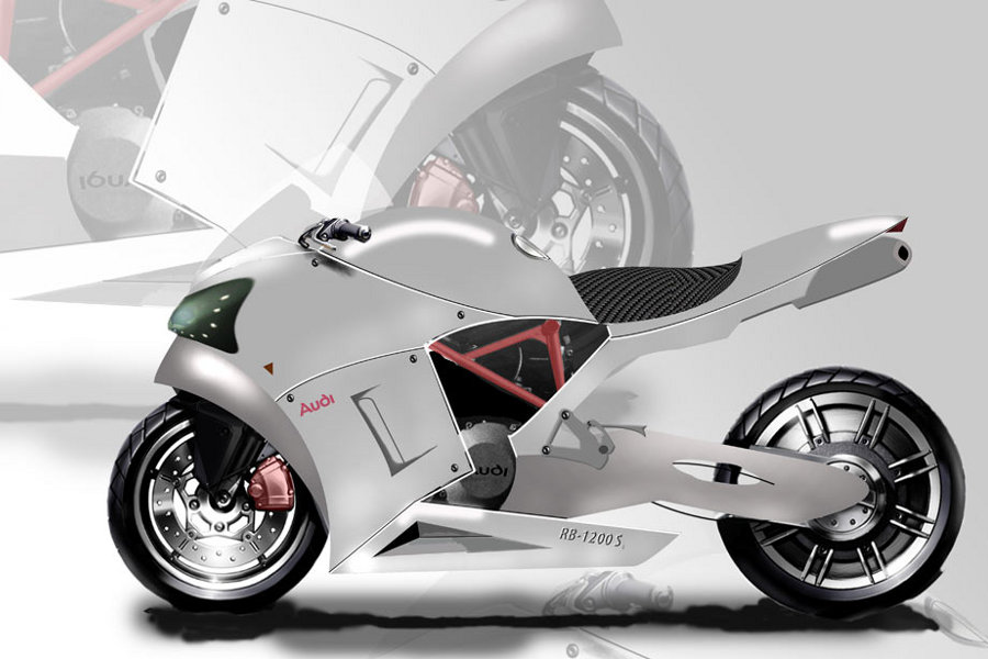 Dubbed audi rb 1200 s the performance bike concept by garvin harvey