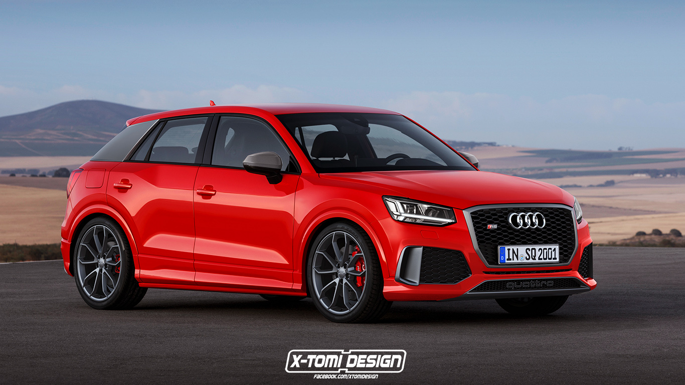audi rs q2 can finally be rendered could happen by 2018. Black Bedroom Furniture Sets. Home Design Ideas