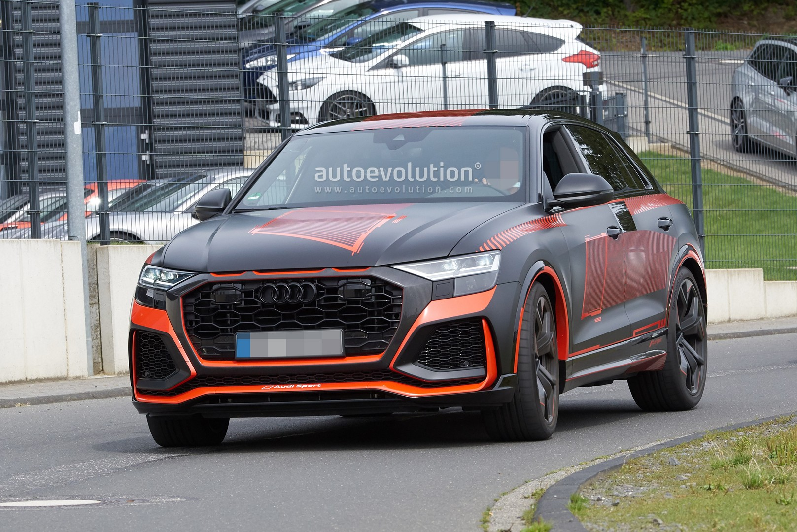 Audi Rs Q8 Debuts Crazy Matte Black And Red Camo Looks Ready To Come Out Autoevolution