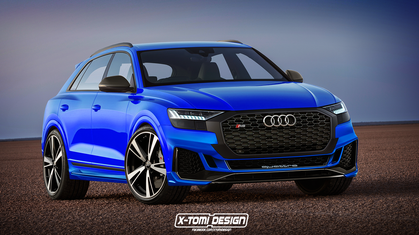 audi rs q8 rendered looks ready for the lamborghini urus. Black Bedroom Furniture Sets. Home Design Ideas