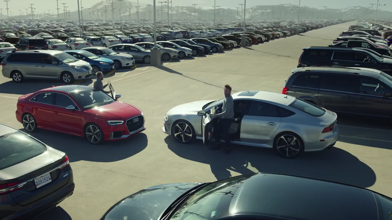 Audi RS And RS Race For Parking Spots Before Holidays In - Audi car commercial