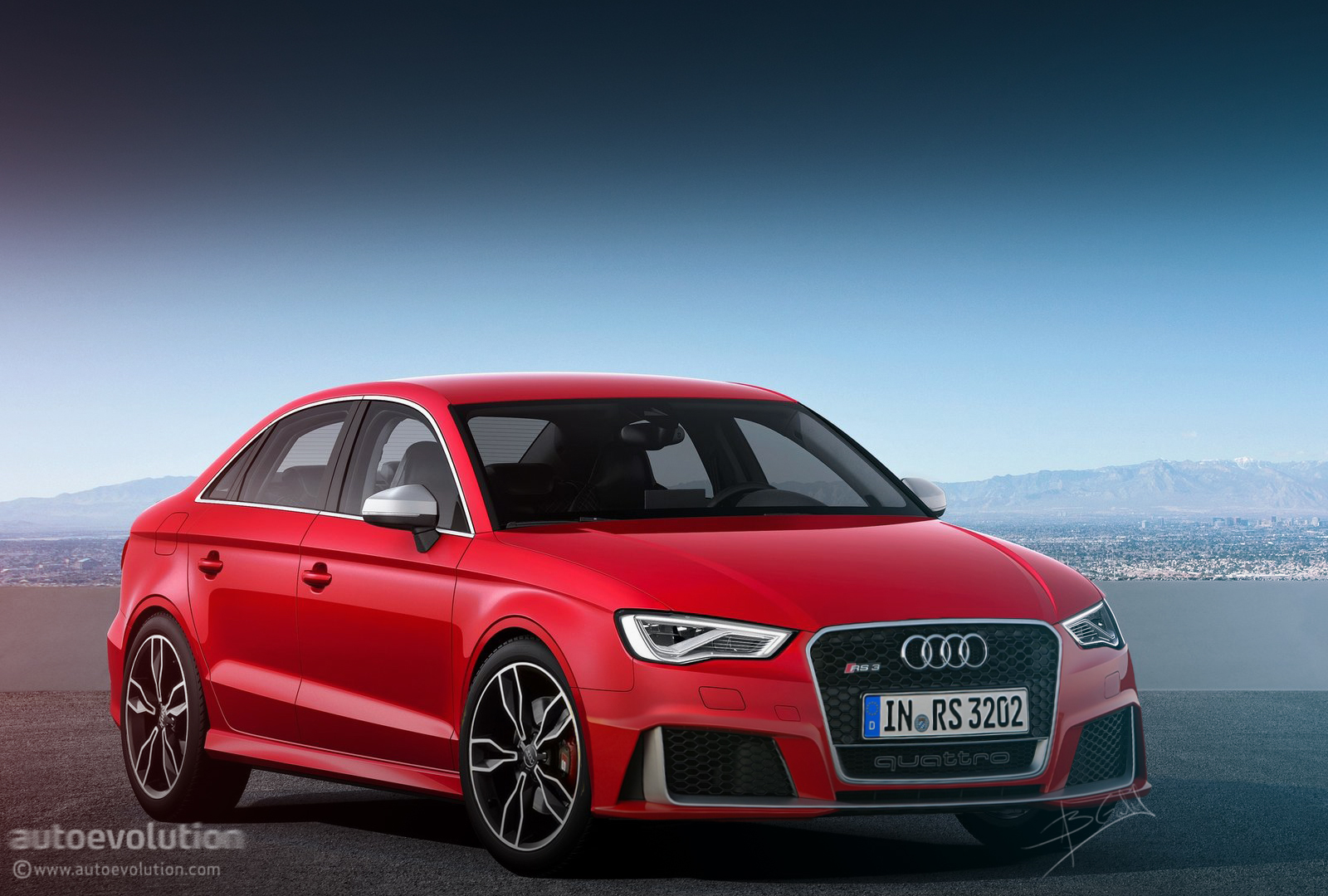 audi rs3 sedan coming in 2016 autoevolution. Black Bedroom Furniture Sets. Home Design Ideas