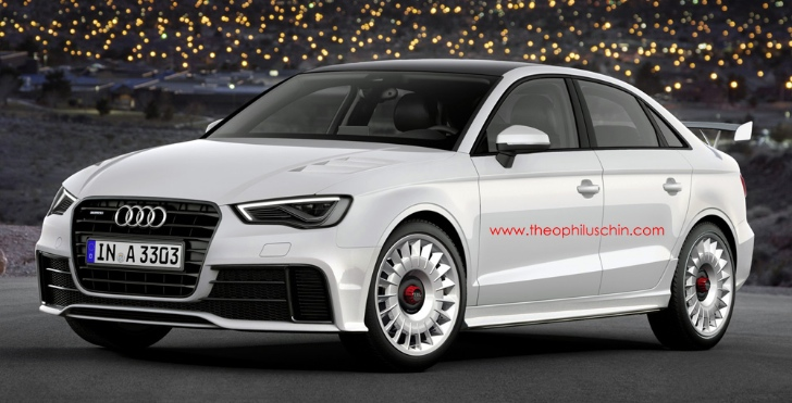 Audi RS3 Sedan Rendered