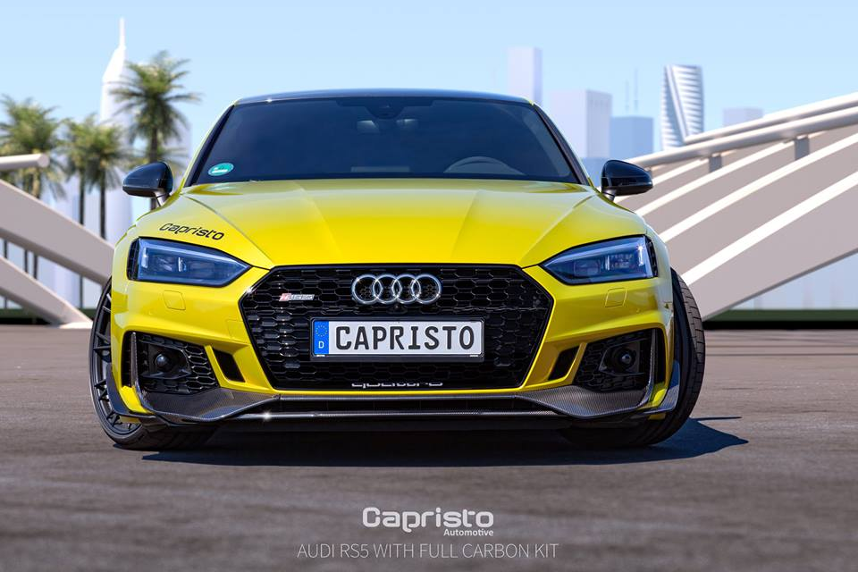 Audi RS5 Coupe Gets Carbon Fiber Body Kit from Capristo - autoevolution