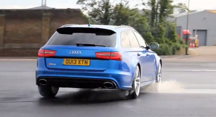 Audi RS6 and Ben Collins in Man vs Machine Paintball Fight [Video]