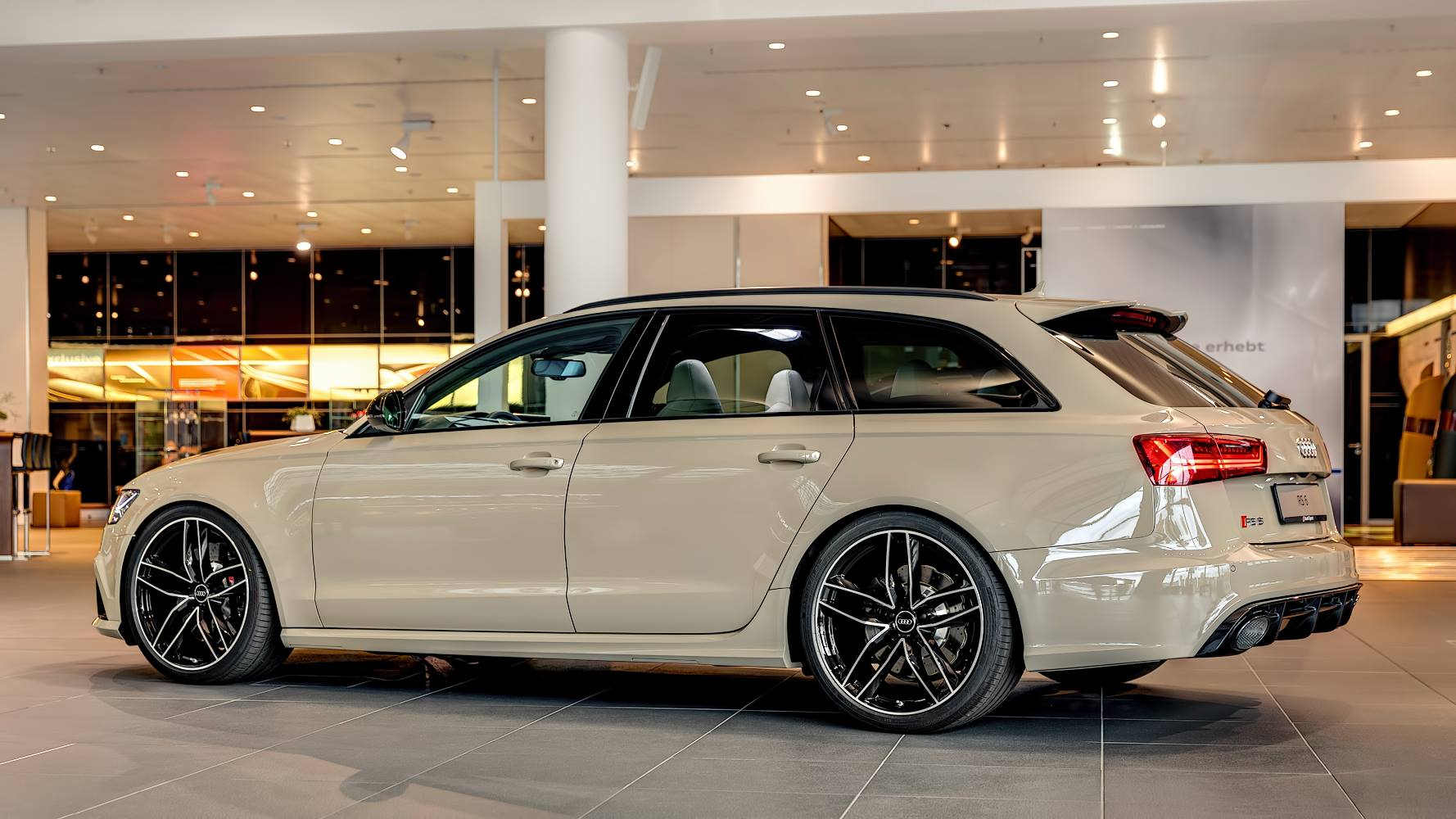 audi rs6 avant in mocha latte is the perfect weekend. Black Bedroom Furniture Sets. Home Design Ideas