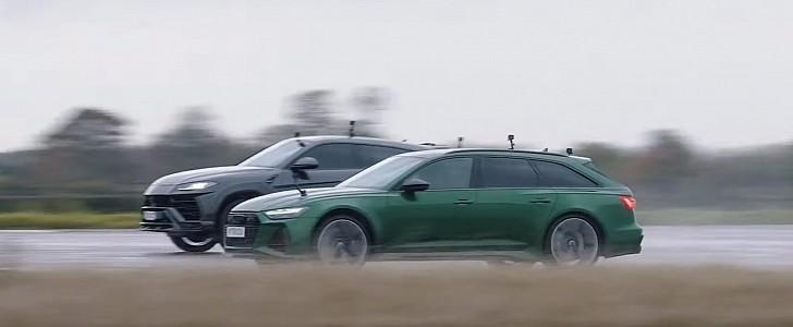 Audi RS6 vs Lamborghini Urus Drag Race: Same Engine, Different Performance - autoevolution