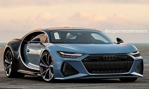 Audi RS7 Supercar Is a Weird Bugatti Chiron Hybrid