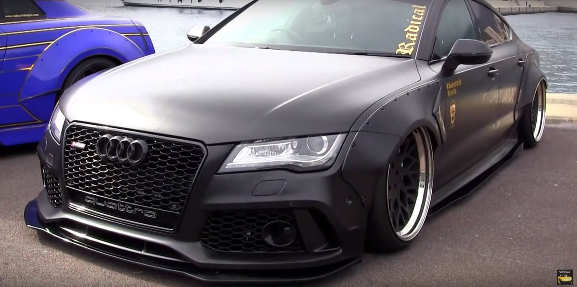 Audi Rs7 Tdi Has Rocket Bunny Kit Air Suspension And Awesome