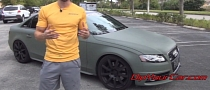 Audi S4 Painted with Camo Green Rubber Dip [Video]