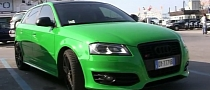 Audi S3 Sportback Gets Crazy Green Color [Video]