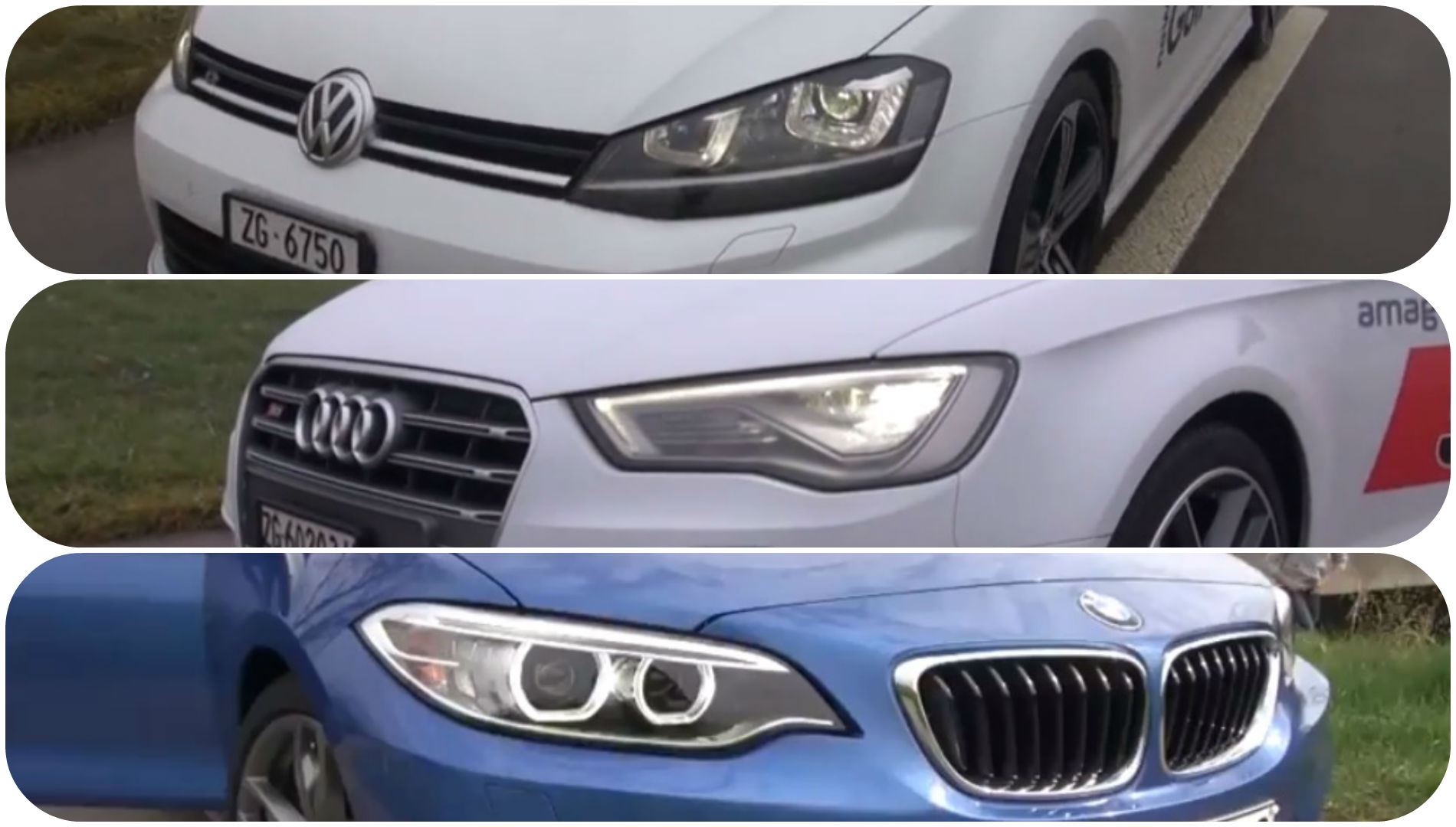 audi s3 vs golf 7 r vs bmw m235i the 300 hp comparison autoevolution. Black Bedroom Furniture Sets. Home Design Ideas