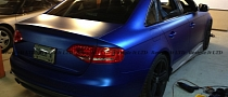 Audi S4 Wrapped in Matte Metallic Blue [Photo Gallery]