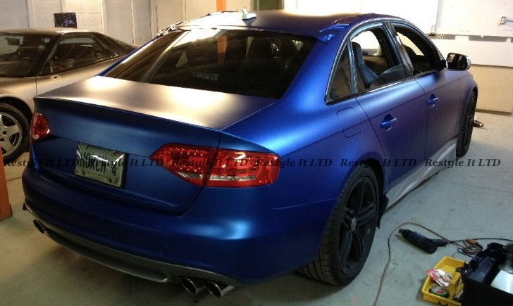 Audi S4 Wrapped In Matte Metallic Blue Autoevolution