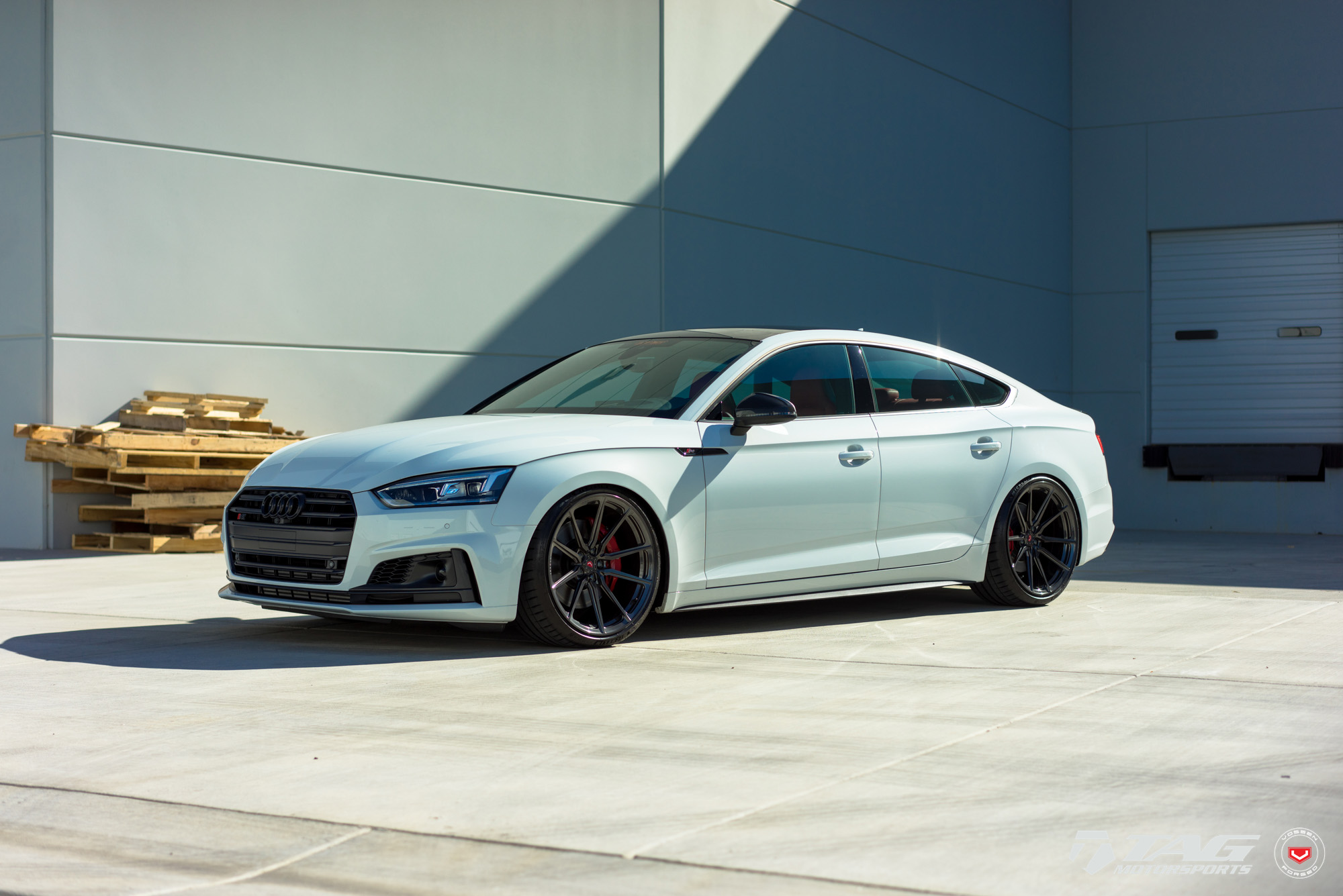 audi s5 sportback looks clean on vossen m x2 wheels. Black Bedroom Furniture Sets. Home Design Ideas