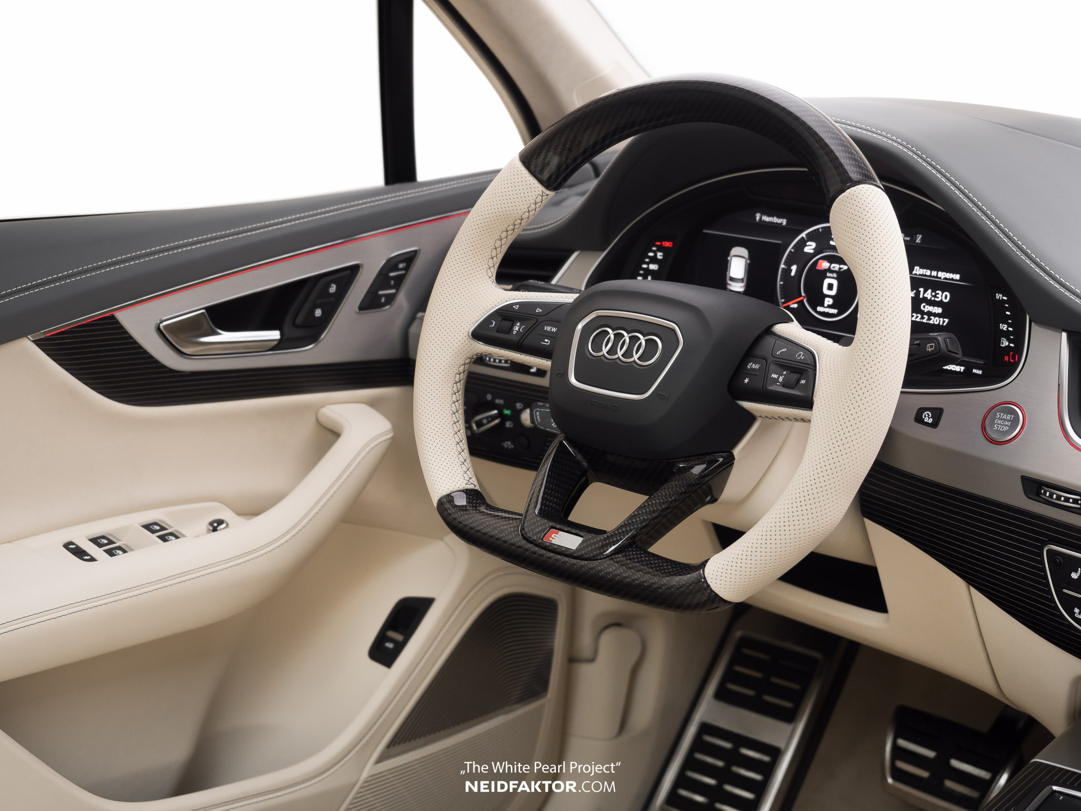 Audi Sq7 Gets Carbon Fiber And Cream Leather Interior From