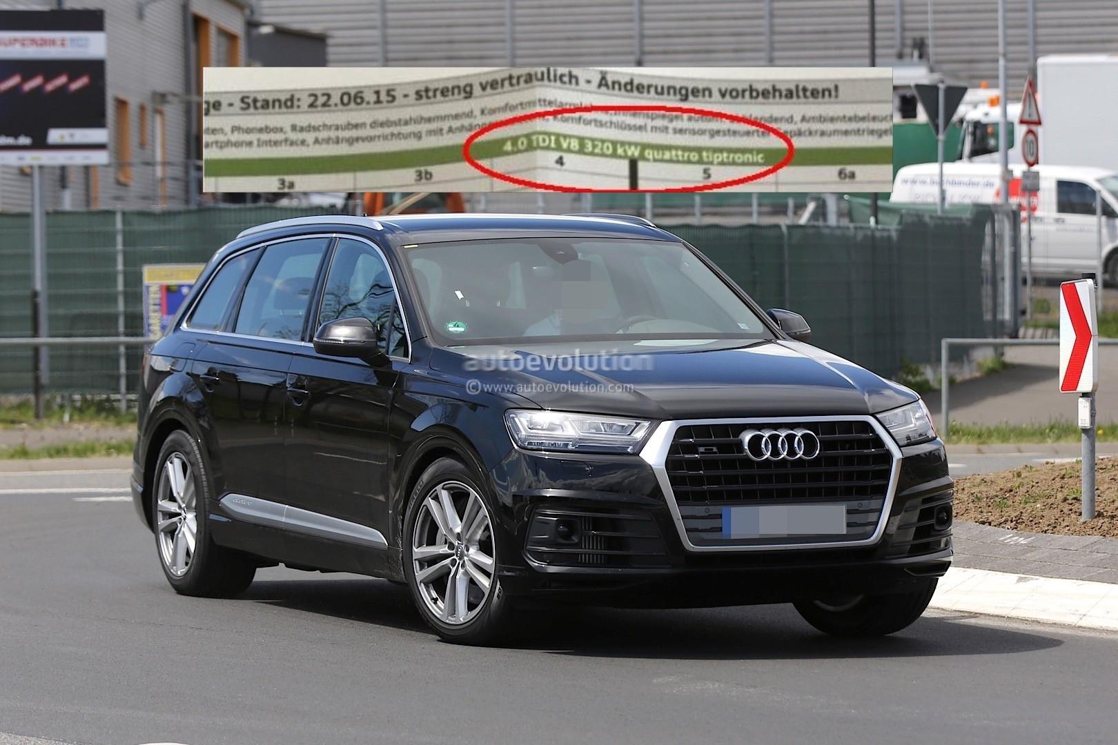 Audi audi sq7 tdi : Audi SQ7 Will Pack New 4.0 TDI with 435 PS, Spec Sheet Suggests ...