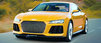 Audi Takes Sport quattro concept for a Drive to Thank Facebook Fans [Video]