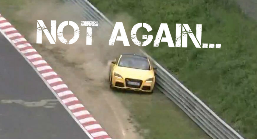 Audi Tt Rs Driver Crashes At The Nurburgring Twice At The