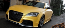 Audi TT RS Gets Sunflower Yellow Metallic Wrap [Photo Gallery]