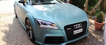 Audi TT RS Wrapped in Metallic Peppermint Blue [Photo Gallery]