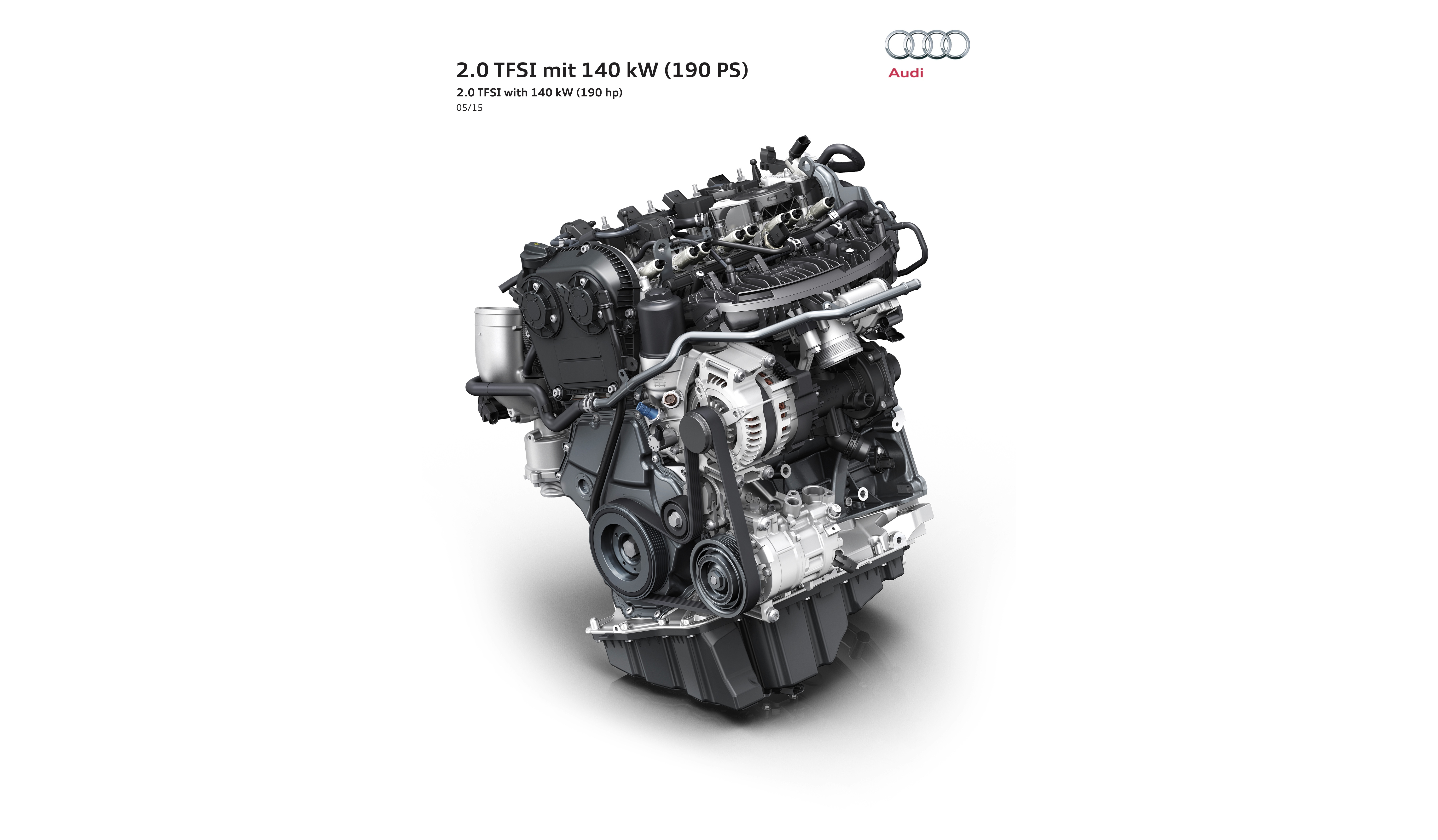 audi unveils new 2 0 tfsi for 2016 a4 190 hp consumes less than 5 l 100km autoevolution. Black Bedroom Furniture Sets. Home Design Ideas