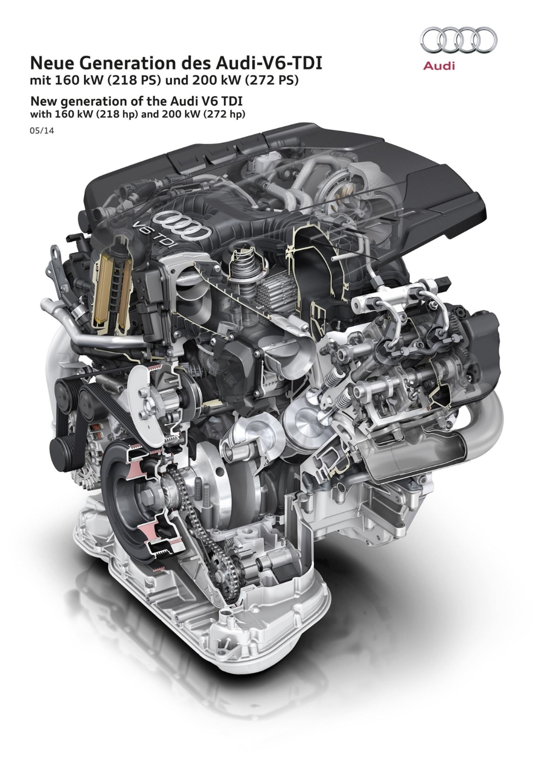 Audi Unveils Two New 3 0 V6 Tdi Clean Diesel Engines
