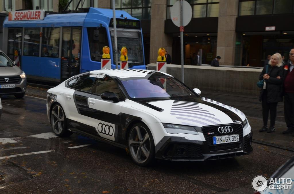 Audis Autonomous RS Piloted Driving Concept Spotted With A Driver - Audi piloted driving