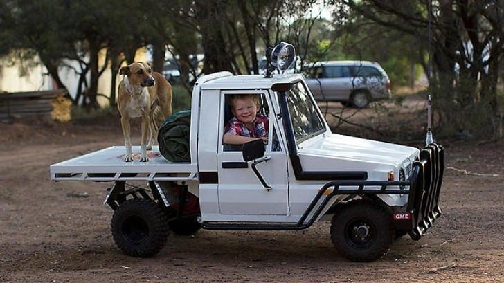 Australian Dad Builds Miniature Toyota Land Cruiser For His Son Autoevolution