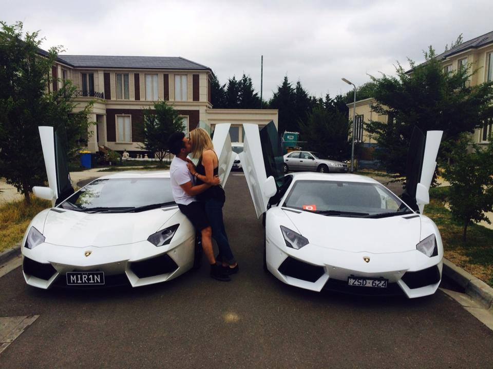 Australian Aventador Owner Buys Another Aventador For Driving Exam Passing Girlfriend