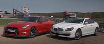 Autocar Compares Alpina's B6 with the 2013 Nissan GT-R [Video]