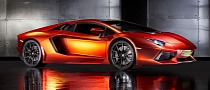 Aventador in Orange Red Matte Chrome by Print Tech [Photo Gallery]