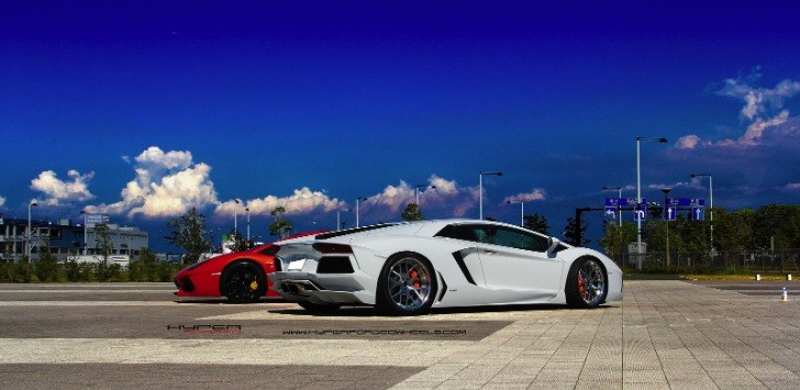 Aventador on Hyper Forged Wheels [Photo Gallery]