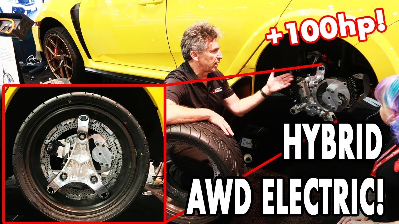 AWD Electric Wheel Turns Honda Civic Type R into 450 HP Monster