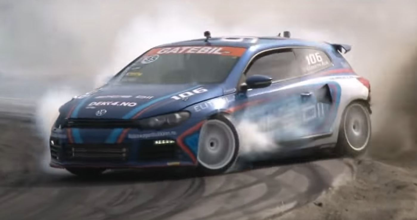 AWD Scirocco With 800 HP Audi Engine Is an Insane Drift