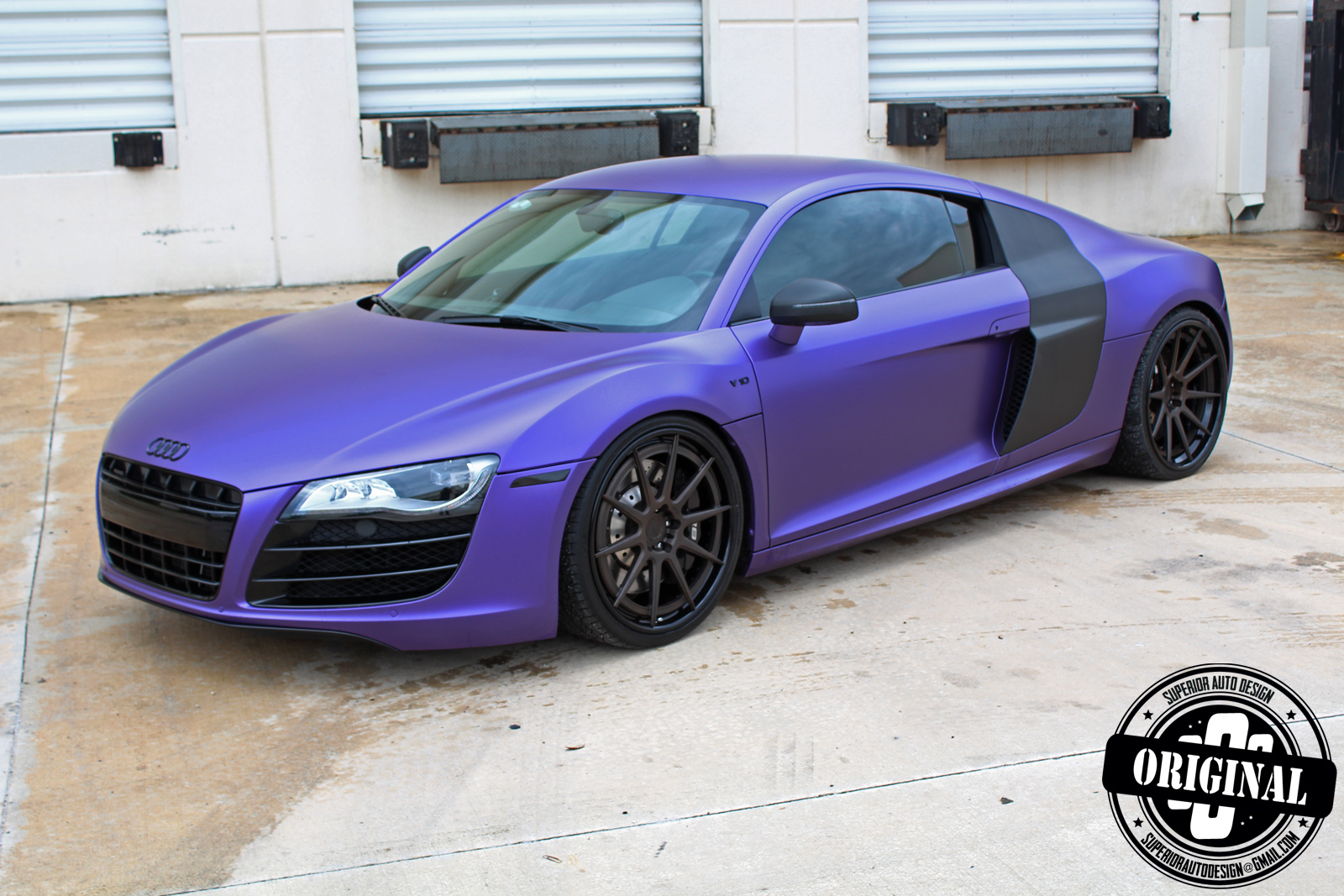 Dark Purple Car Black Rims