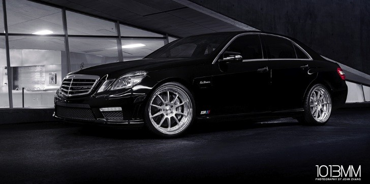 Awesome Mercedes E63 AMG on SSR Wheels