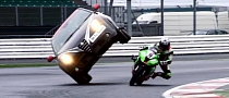 Awesome Stunt to Promote the Silverstone WSBK Race [Video]
