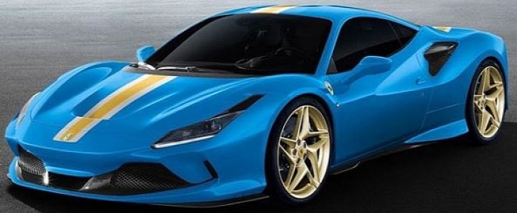 Azzurro Dino Ferrari F8 Tributo Shows Screaming Spec Autoevolution