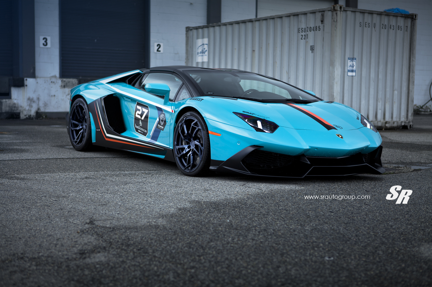 Baby Blue Lamborghini Aventador Gets Pur Wheels Lp720 Body Kit