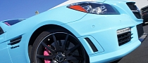 Baby Blue SLK 55 AMG Has Pink Calipers [Photo Gallery]